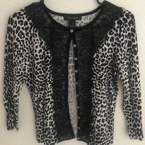 Leopard lace cardigan
